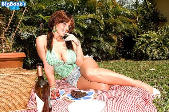 Busty Redhead Sarah Sunshine On A Picnic BigBoobsPOV