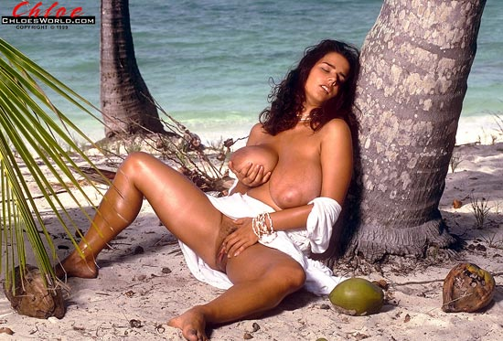 Chloe Vevrier On a Tropical Beach chloesworld