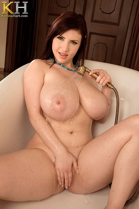 Busty Karina Hart Showering at KarinaHart.com