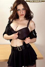 Busty Merilyn Sakova Acting Police Girl