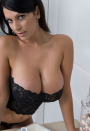 Denise Milani Fantastic Sexy Busty Lady In Bathroom DeniseMilani.com