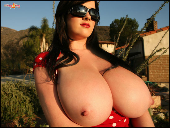 Huge Juggs on Rachel Aldana at PinupFiles.com