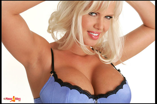 Big Boobed Blonde LaTasha Marzolla Naked at PinupFiles.com