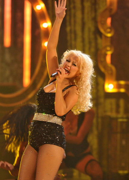 Christina Aguilera performing 2010 American Music Awards