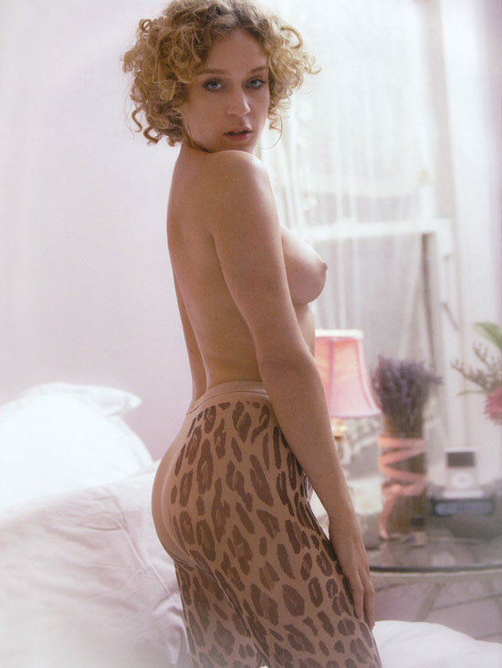 Chloe Sevigny in Tight Leopard Tights and Topless in Blast Magazine
