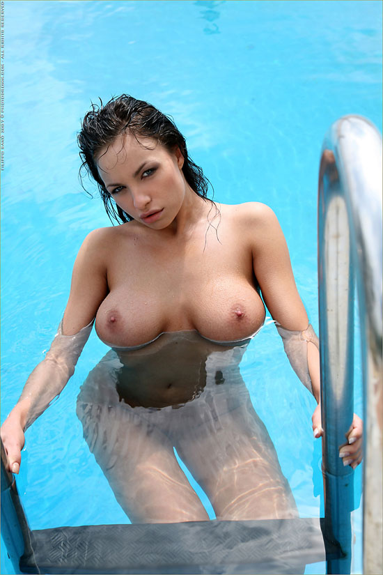 Horny Marta Zawadzka enjoy naked at the pool PhotoDromm