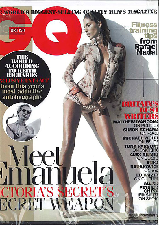 Manuela de Paula wet and sheer in GQ UK December 2010