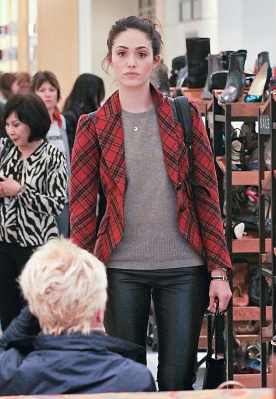 Emmy Rossum and Olivia Munn shopping in LA 12.22.10