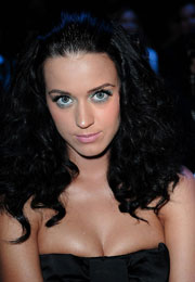 Katy Perry Hot Cleavage Attends the Castelbajac spring summer 2010 show
