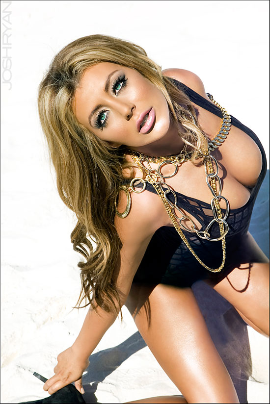 Aubrey O'Day Sexy PhotoShoot Desert Sand