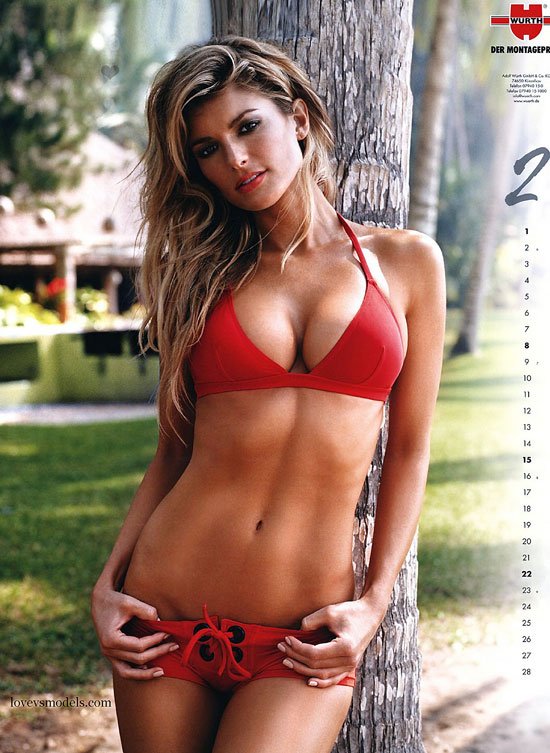 Hot Sexy Marisa Miller in red bikini