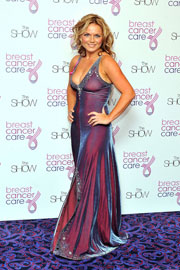 Geri Halliwell cleavy at Breast Cancer Care 2009 Fashion Show