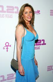 Tanya Roberts Great Bust Blue Dress