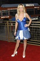 Popular pop singer Lindsay Lohan in Blue Cleavage