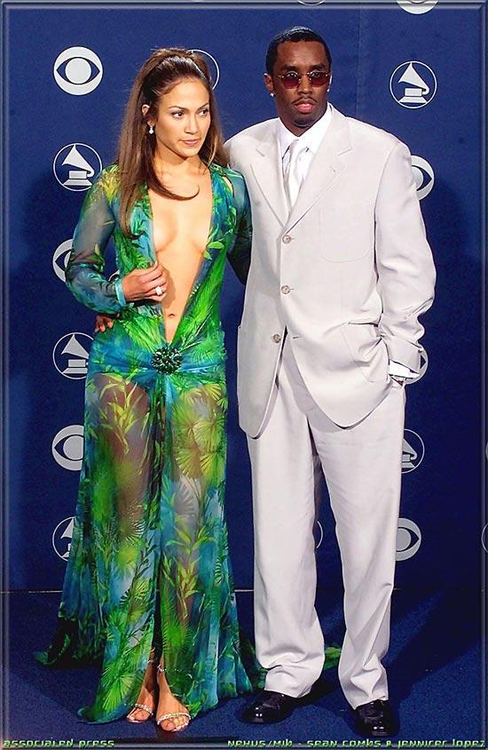 Jennifer Lopez grammy dress green
