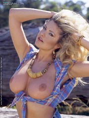 Legendary British babe Kirsten Imre in jeans clothes