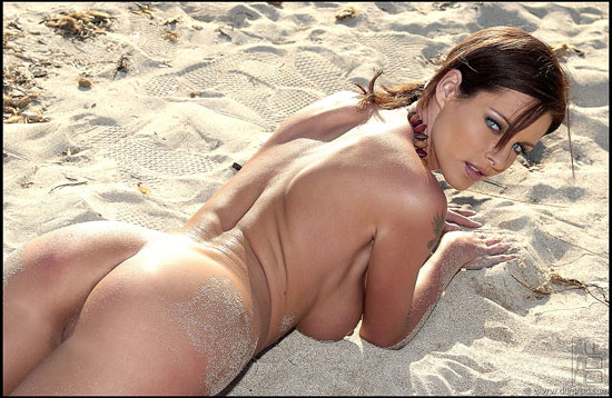 Czech Busty Beauty Tereza Dvorakova On the Beach