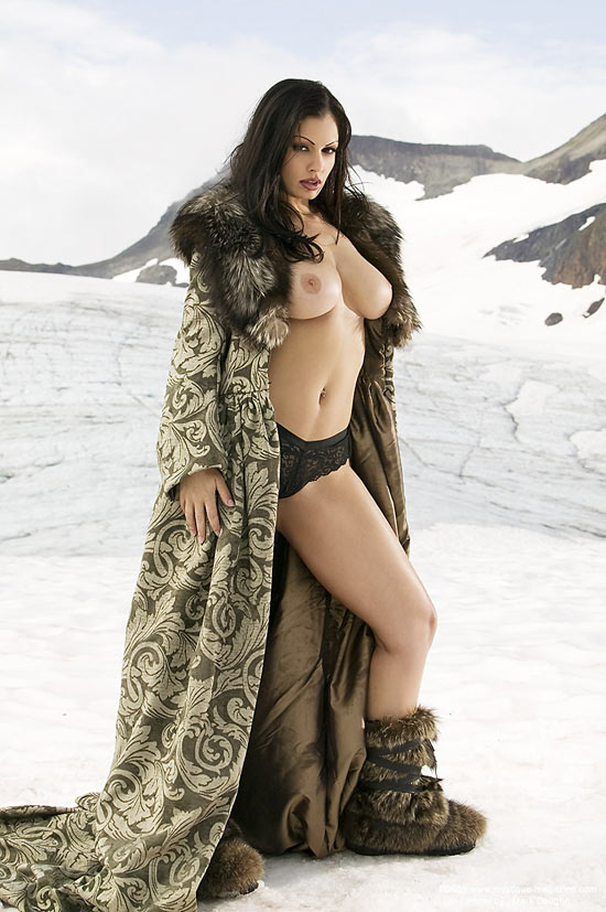 Aria Giovanni Famous Busty Pornstar Enjoying The Snow Naked